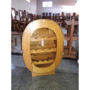 AdÊga Oval 12 Garrfas Em Madeira RÚstico De DemoliÇÃo