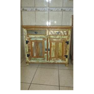 Arcais Colorido 2 Portas Em Madeira RÚstico De DemoliÇÃo