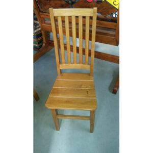Cadeira Alema Com Assen To Ripado Em Madeira RÚstico De DemoliÇÃo