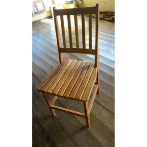 Cadeira Ana Hickman Ripadas Abertas Em Madeira RÚstico De DemoliÇÃo