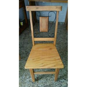 Cadeira Colonial Em Madeira RÚstico De DemoliÇÃo