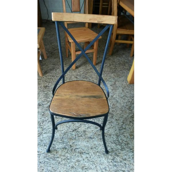 Cadeira Paris Com Ferro Em Madeira RÚstico De DemoliÇÃo