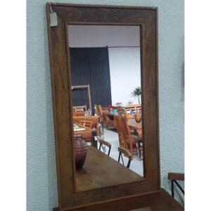 Espelho RÚstivo Em Madeira RÚstico De DemoliÇÃo