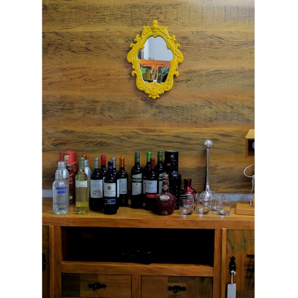 Rack Retro Com Painel Em Madeira De DemoliÇÃo